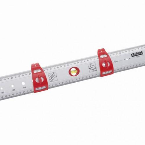Pravítko hliníkové KRT703750 s vodováhou Kreator, 750mm