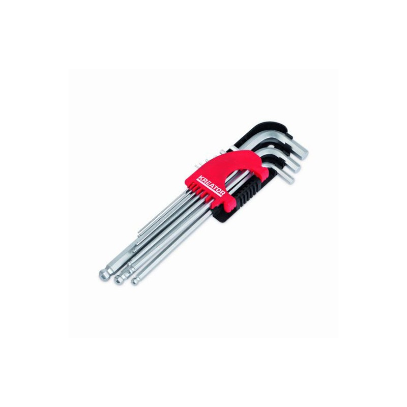 Sada klíčů zástrčných inbusových HEX KRT408302 Kreator, 9 kusů