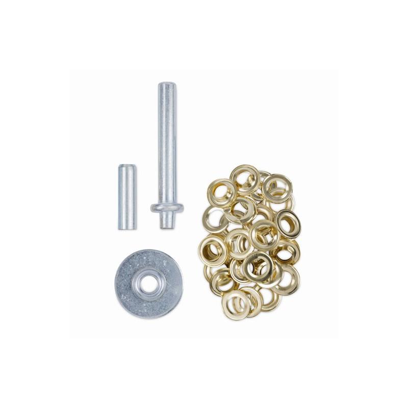 Nýtovací nástroj + 30 kusů kroužků, KRT616109 Kreator, 12,5mm