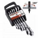 Sada kloubových klíčů ráčnových-plochých KRT500014 Kreator, 8-19mm, 6 kusů