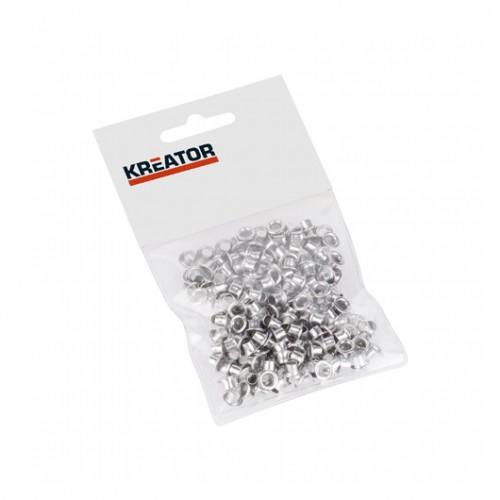 Kroužky lemovací hliníkové KRT616103 Kreator, 4mm, 100 kusů
