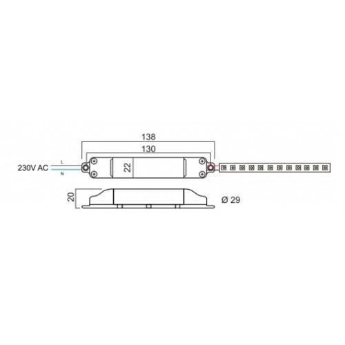 Napaječ 89408 pro LED, 24V DC/0,2A