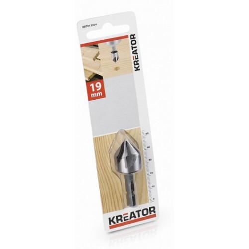 Kuželový záhlubník do dřeva KRT011204, 19mm