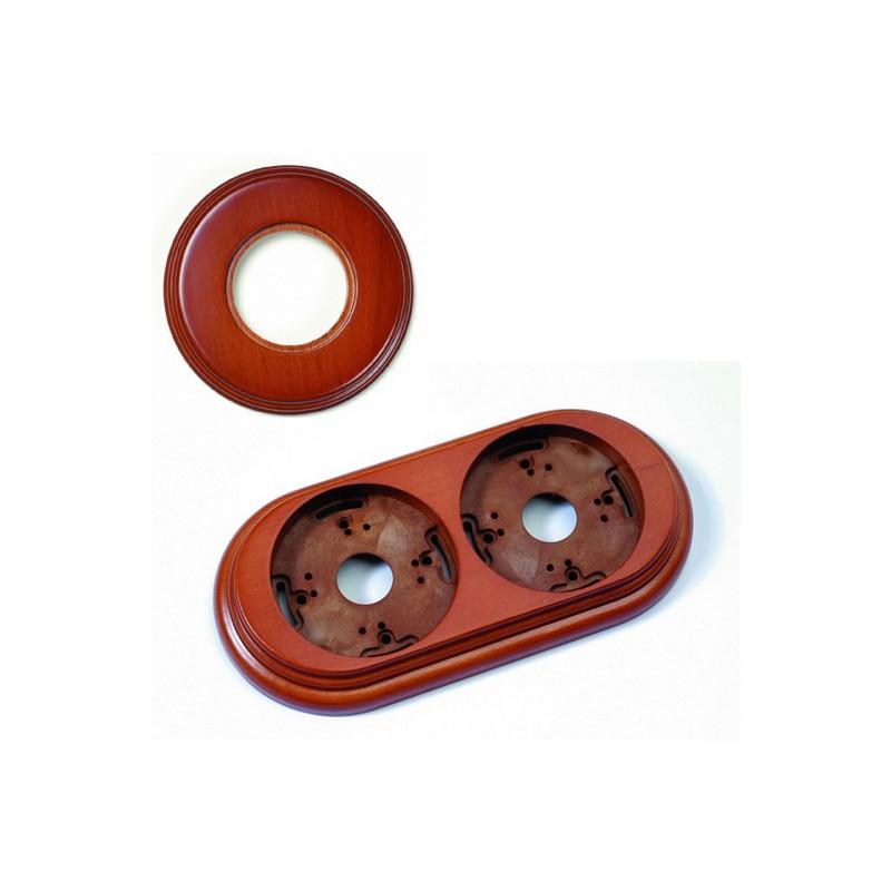 Dřevěný rámeček dvounásobný 30-802-19 Garby, medové dřevo