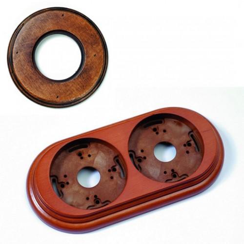 Dřevěný rámeček dvounásobný Garby, staré dřevo