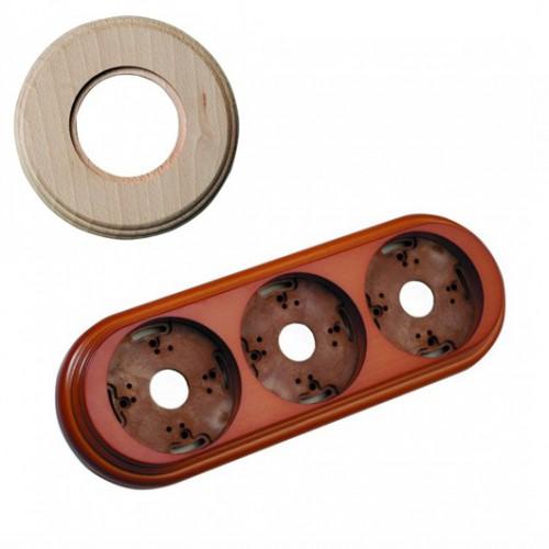 Rámeček dřevěný trojnásobný 30-803-00