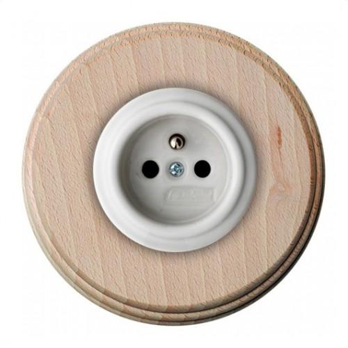 Zásuvka zapuštěná 31-208-17 + rámeček dřevo natural
