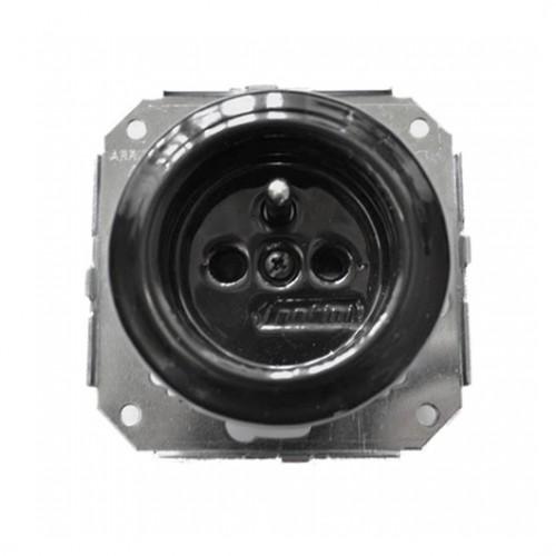 Stylová keramická zásuvka Garby Colonial, 230V/16A - černá