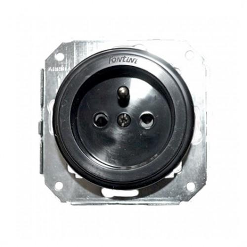 Stylová plastová zásuvka Garby Colonial, 230V/16A - černá