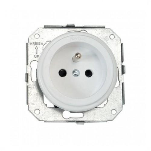 Stylová plastová zásuvka Garby Colonial, 230V/16A - bílá