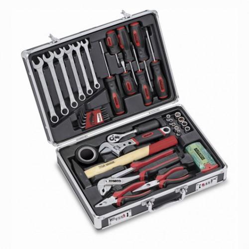 Sada nářadí KRT951001 Kreator v hliníkovém kufru, 51 kusů