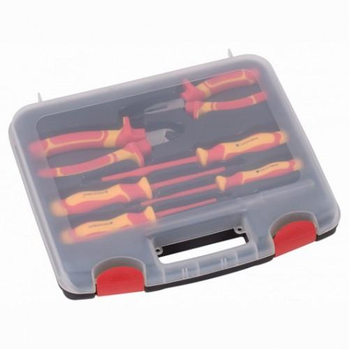 Sada nářadí v kufru KRT951101 izolovaného Kreator, 7 kusů