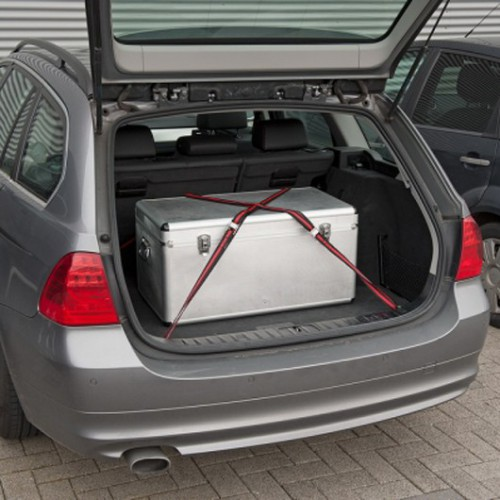 Upínací pás ráčnový KRT555002, 100kg/2,5m, 2 kusy