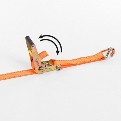 Upínací pás ráčnový s háky KRT555008 Kreator, 1000kg/4,6m
