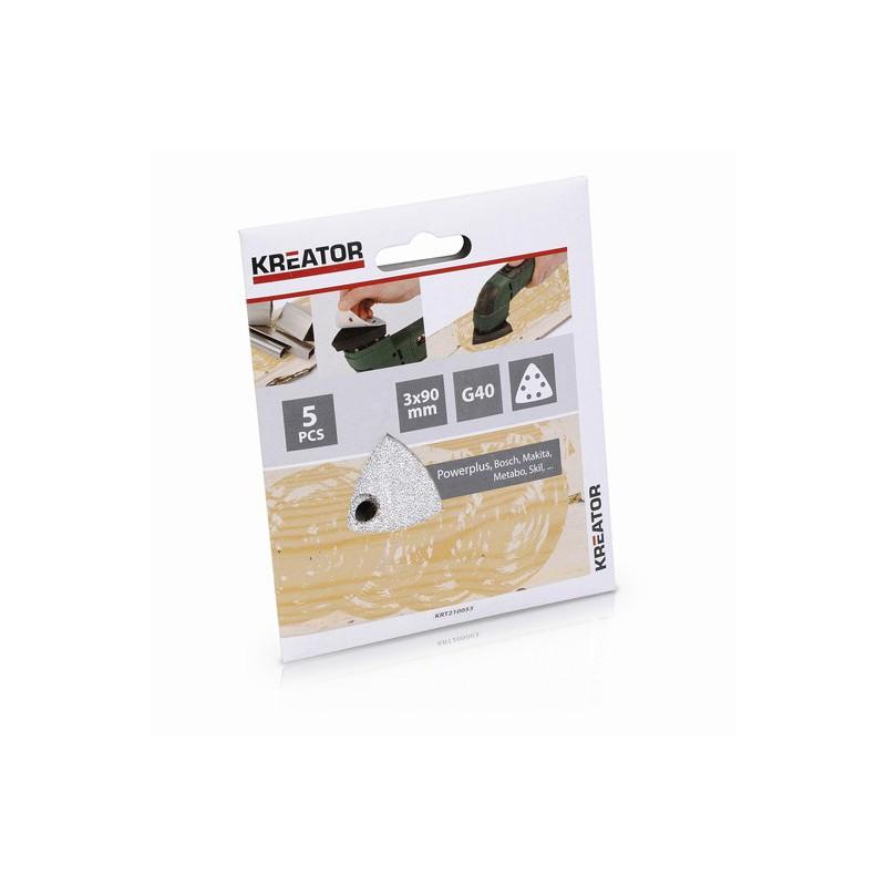 Sady brusných papírů na barvu do mini delta brusek KRT210053, 5 kusů