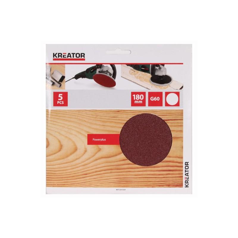 Sady brusných papírů na dřevo do excentrických brusek KRT231554, pr.180mm