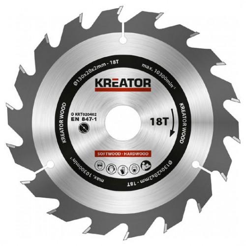 Pilový kotouč na dřevo KRT020402 Kreator, pr. 130mm