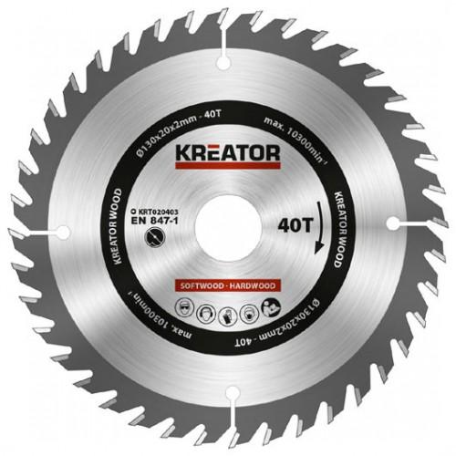 Pilový kotouč na dřevo KRT020403 Kreator, pr. 130mm