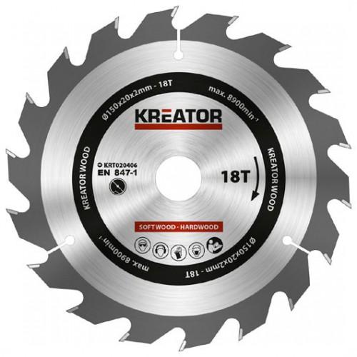 Pilový kotouč na dřevo KRT020406 Kreator, pr. 150mm