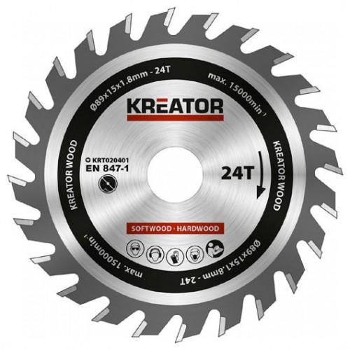 Pilový kotouč na dřevo KRT020401 Kreator, pr. 89mm