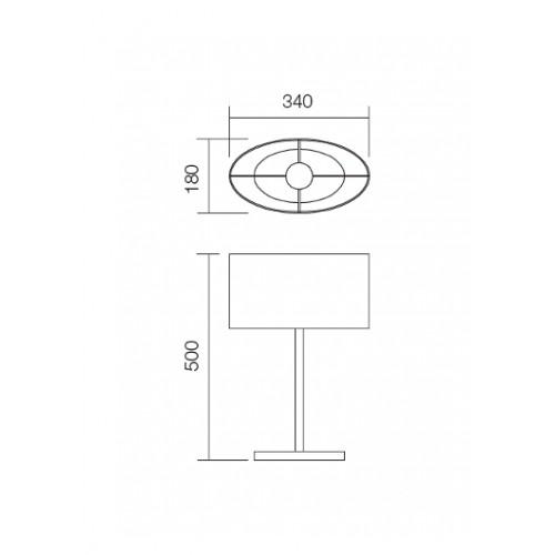 Stolní lampa moderní 01-680BR ze série Enjoy, hnědá