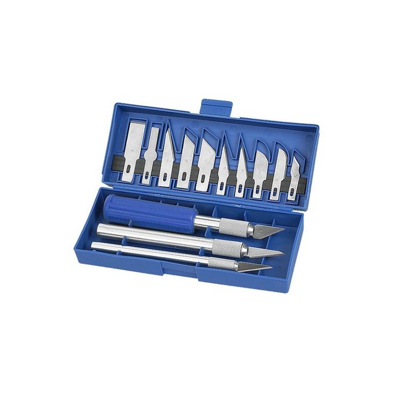 Sada modelářských nožů VT25200, 13 kusů