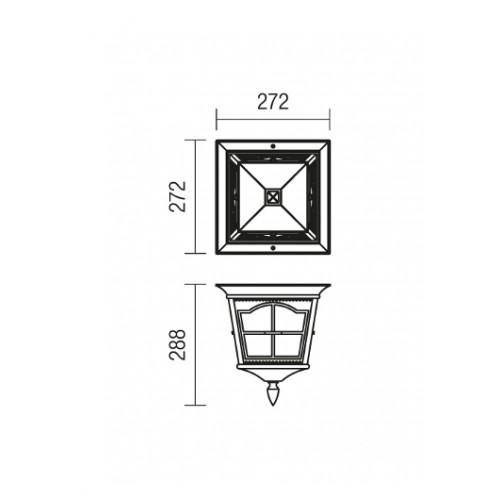 Stropní svítidlo exteriérové 9650 klasické ze série York