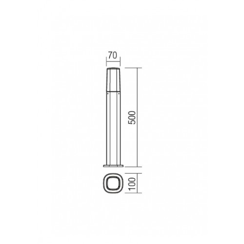 Sloupkové svítidlo exteriérové 9075 moderní ze série Crayon, tmavá šedá