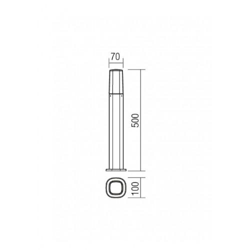 Sloupkové svítidlo exteriérové 9076 moderní ze série Crayon, rezavá hnědá