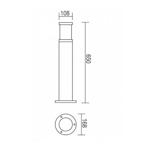 Sloupkové svítidlo exteriérové 9379 moderní ze série Exter, tmavá hnědá