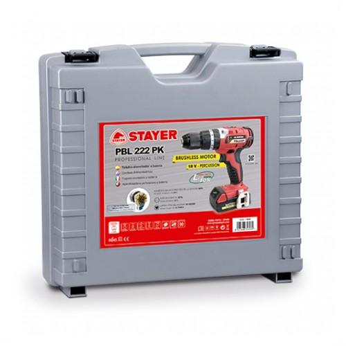 Vrtačka akumulátorová PBL222PK Stayer s příklepem, 2 x aku