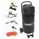 Kompresor elektrický POWX1751 vertikální bezolejový, 1100W