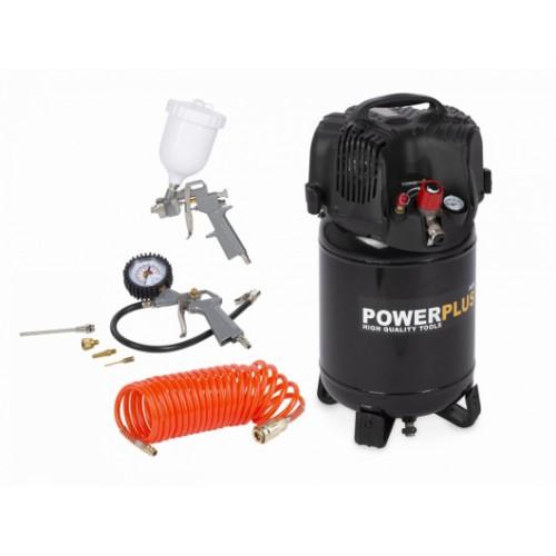 Kompresor elektrický POWX1731 vertikální bezolejový