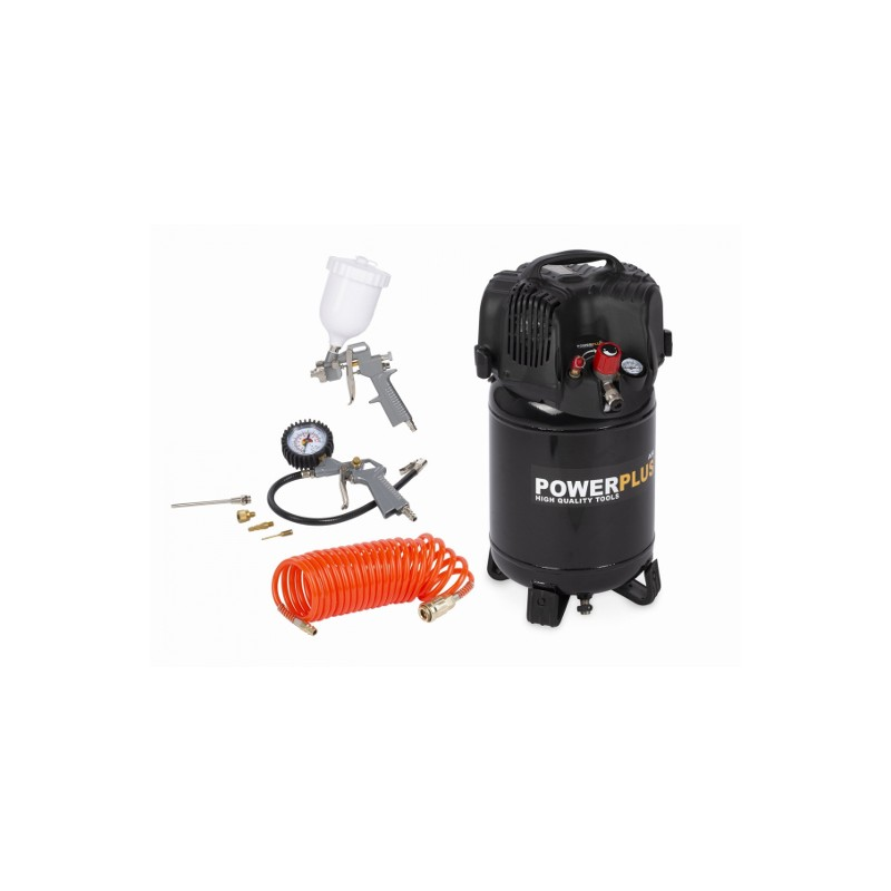 Kompresor elektrický POWX1731 Powerplus vertikální bezolejový