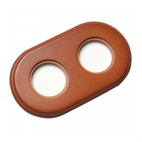 Rámeček dřevěný dvounásobný 31-802-19, medové dřevo