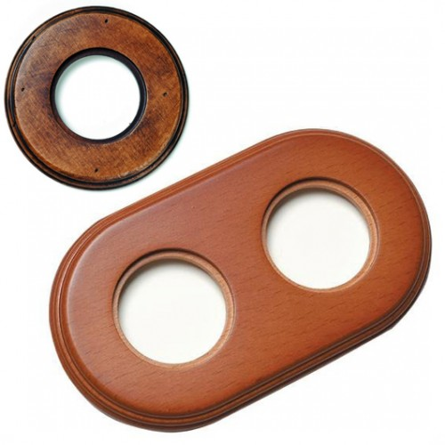 Rámeček dřevěný dvounásobný 31-802-21, staré dřevo