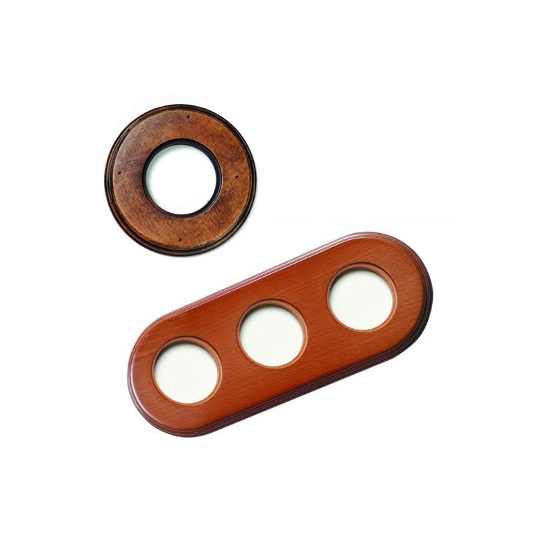 Rámeček dřevěný trojnásobný 31-803-21, staré dřevo