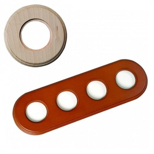 Rámeček dřevěný čtyřnásobný 31-804-00, natural