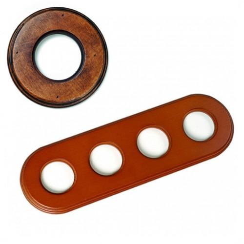 Rámeček dřevěný čtyřnásobný 31-804-21, staré dřevo