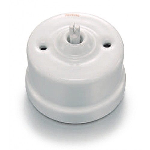 Přepínač schodišťový otočný 30-308-17 Garby, bílá
