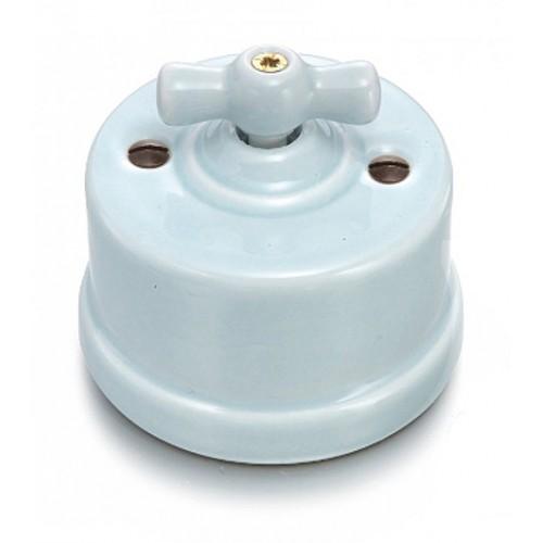 Přepínač schodišťový otočný 30-308-85 Garby, světlá modrá
