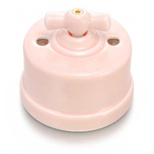 Přepínač schodišťový otočný 30-308-87 Garby, světlá růžová