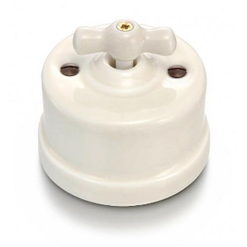 Přepínač schodišťový otočný 30-308-88 Garby, krémová