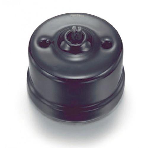 Přepínač schodišťový otočný 30-308-27 Garby, černá