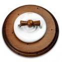 Vypínač otočný 31-306-17 + klička 30-967-21 a rámeček staré dřevo