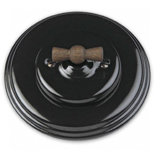Přepínač žaluziový 31-342-27 + klička 30-967-21 a rámeček černý porcelán