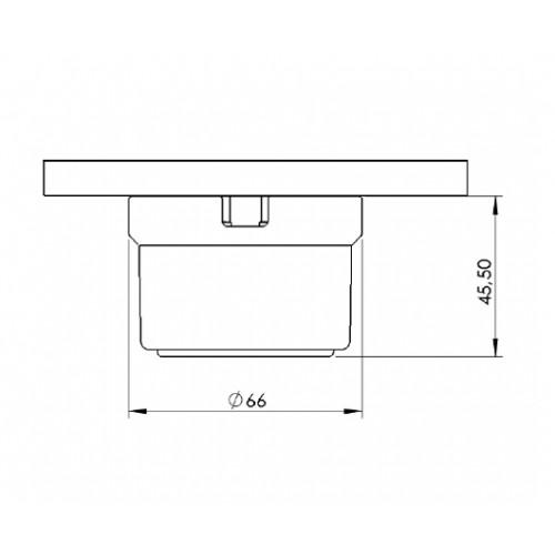 Zásuvka přisazená 30-211-61 Garby, bílá s modro stříbrným dekorem