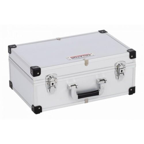 Kufr hliníkový KRT640260S na 60 CD, stříbrný
