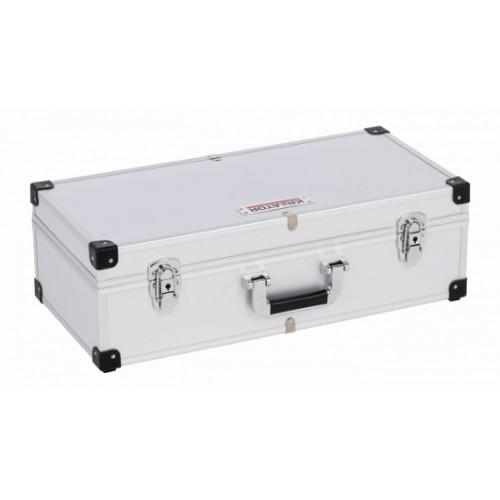 Kufr hliníkový KRT640280S na 80 CD Kreator, stříbrný