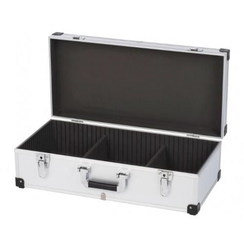 Kufr hliníkový KRT640280S na 80 CD, stříbrný